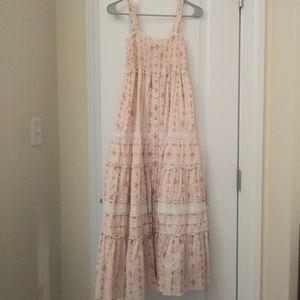 Vintage Floral maxi cotton dress 0